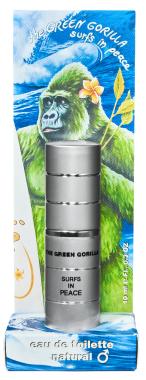 Eau de Toilette ♂♀ - The Green Gorilla Surfs In Peace - Pocketsprayer - 10ml